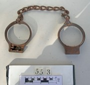 Manacles after treatment.
